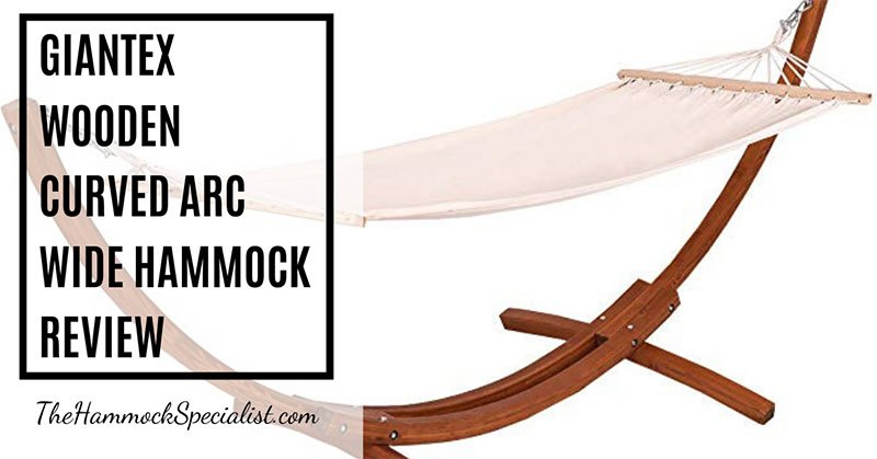 Giantex Wooden Curved Arc Wide Hammock Swing And Stand Set Review