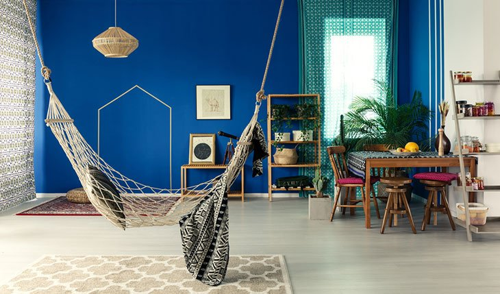 how to hang a hammock indoors without drilling