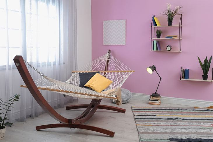 how to hang a hammock indoors without damaging walls