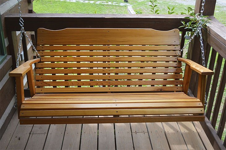 how to hang a porch swing bed